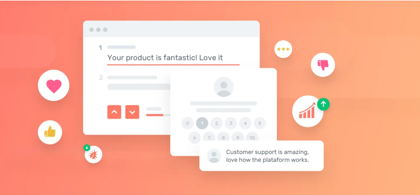 Customer feedback in survey responses: 'I love your product'