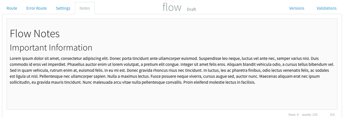 Flow notes preview