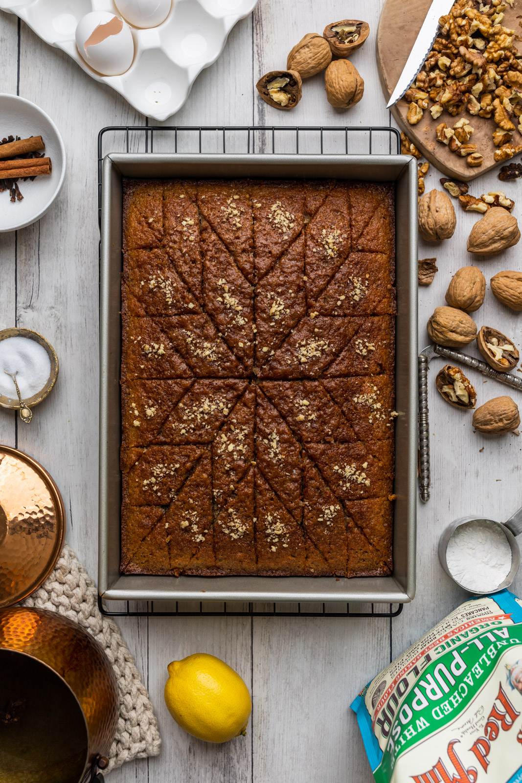 Karithopita Greek Walnut Cake