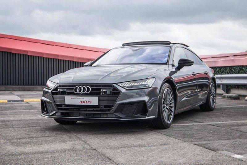 Audi A7 Sportback 55 TFSI e 367 pk Quattro Competition | Verlengde garantie | 2 x S-Line | Nachtzicht-assistent | panorama dak | Head-up display | Trekhaak | 360 camera | Stoelverwarming vóór en achter | afbeelding 11