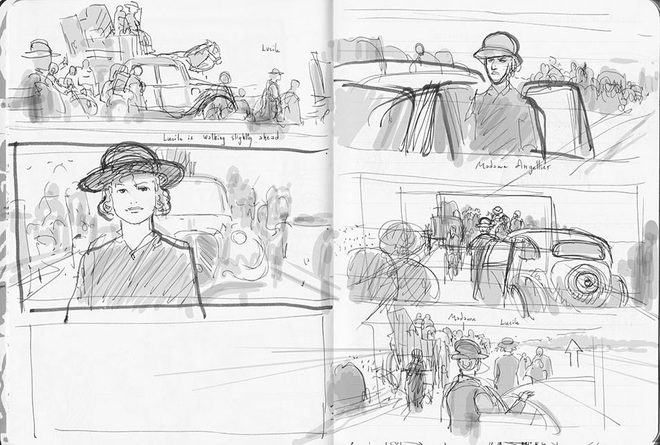 Suite Française first rough storyboard 03