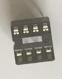 DIP socket close up