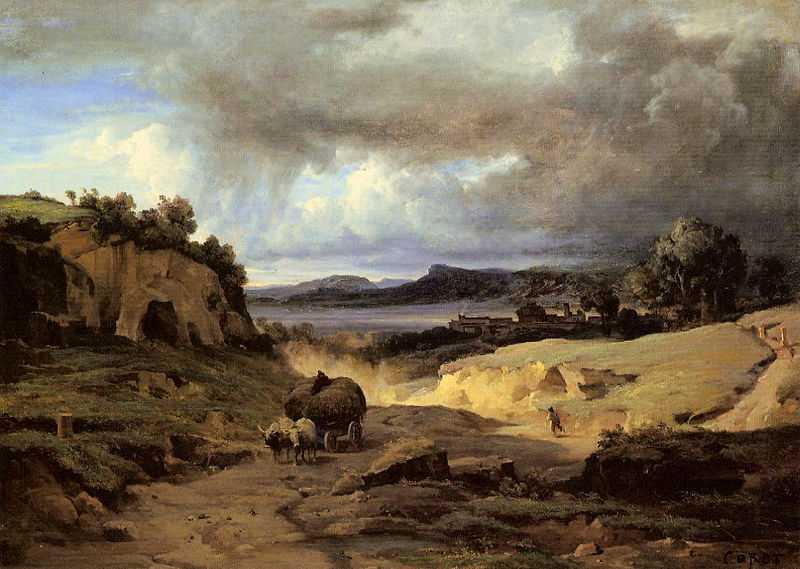 The Roman Campagna (La Cervara), by Camille Corot c.1826 - c.1827, Kunsthaus Zürich, Zürich, Switzerland