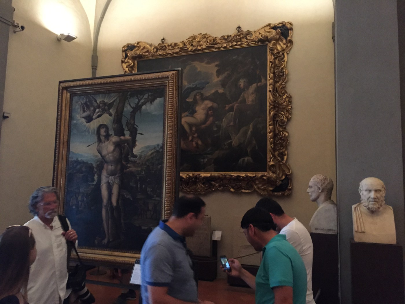 The Gallery setup in the Uffizzi gallery