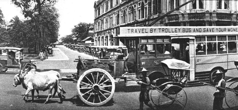 禧街与史丹福路口的交通,1920年代