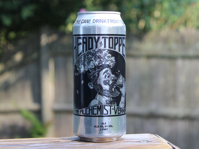 Heady Topper, a Double IPA brewed by The Alchemist Brewery