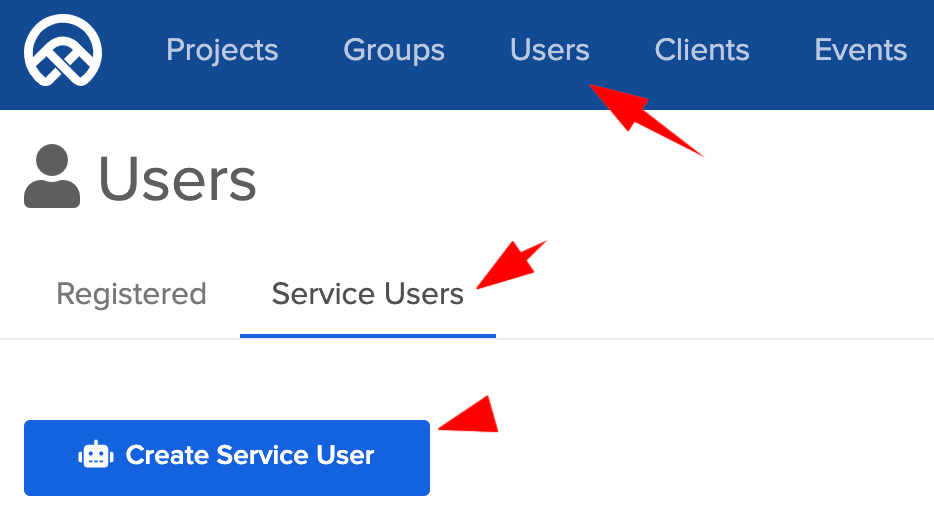 create service user