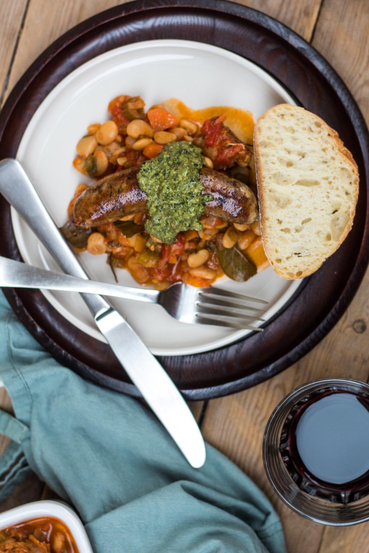 White Bean Cassoulet Pistou