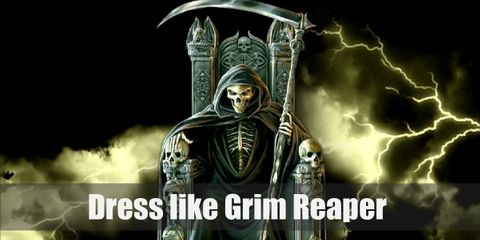 The grim reaper costume should be very dark and scary, but can be also made to look stylish while also being horrific.