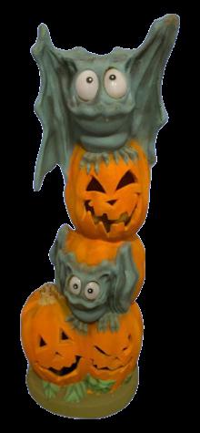Bat Pumpkin Vertical Totem photo