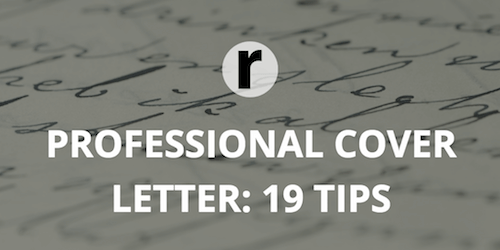 19 Tips for Writing a Professional Cover Letter