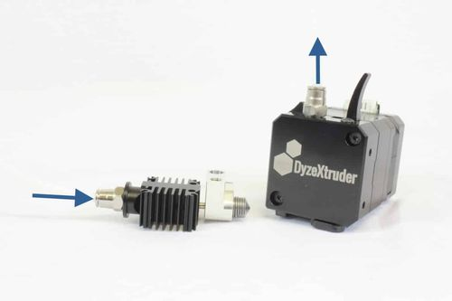 Bowden Setup for DyzeXtruder Extruders
