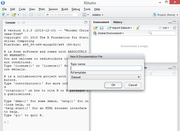 rstudio rdocument window