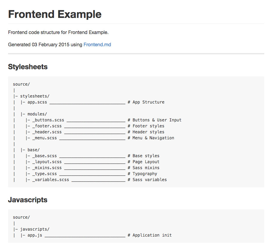 Frontend.md example screenshot