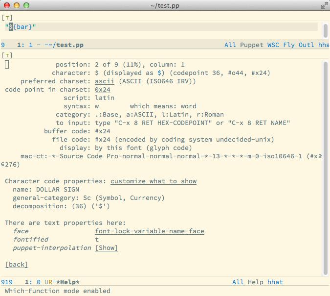 describe-char buffer shown text properties