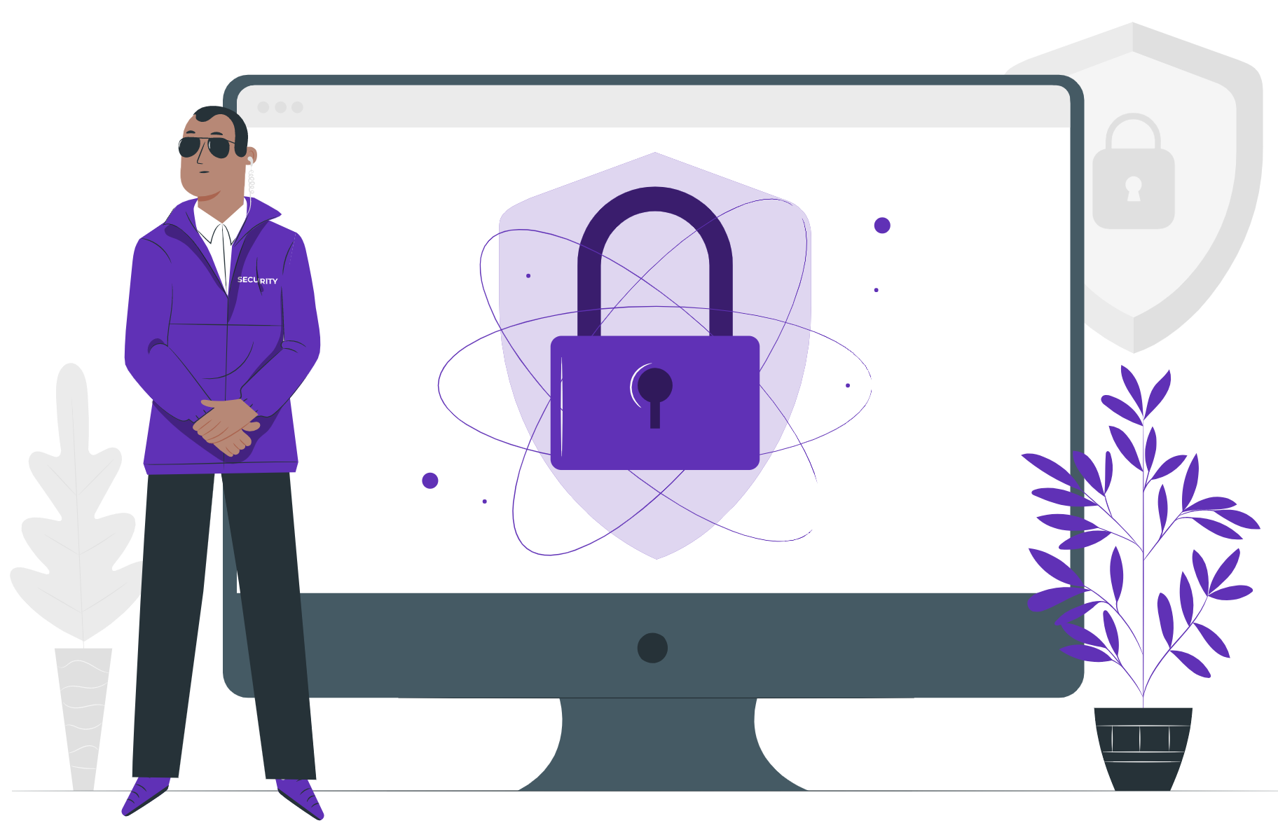 Image of security guy on a website