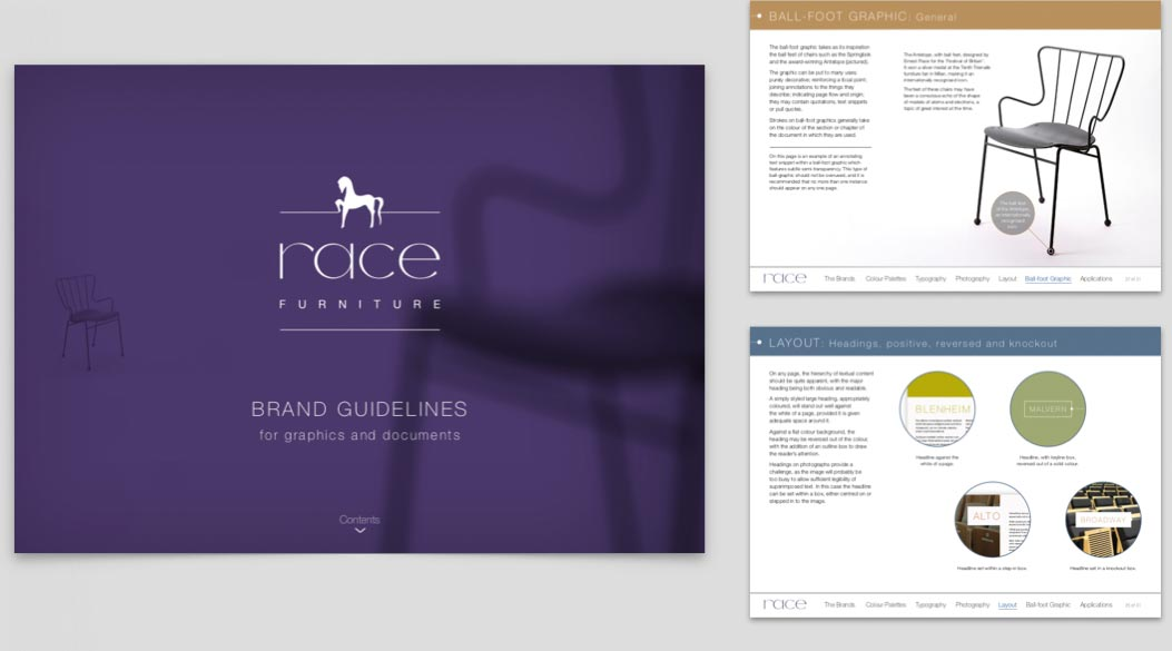 Brand Guidelines for Race Furniture
