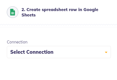 integrately connection with Google Sheets