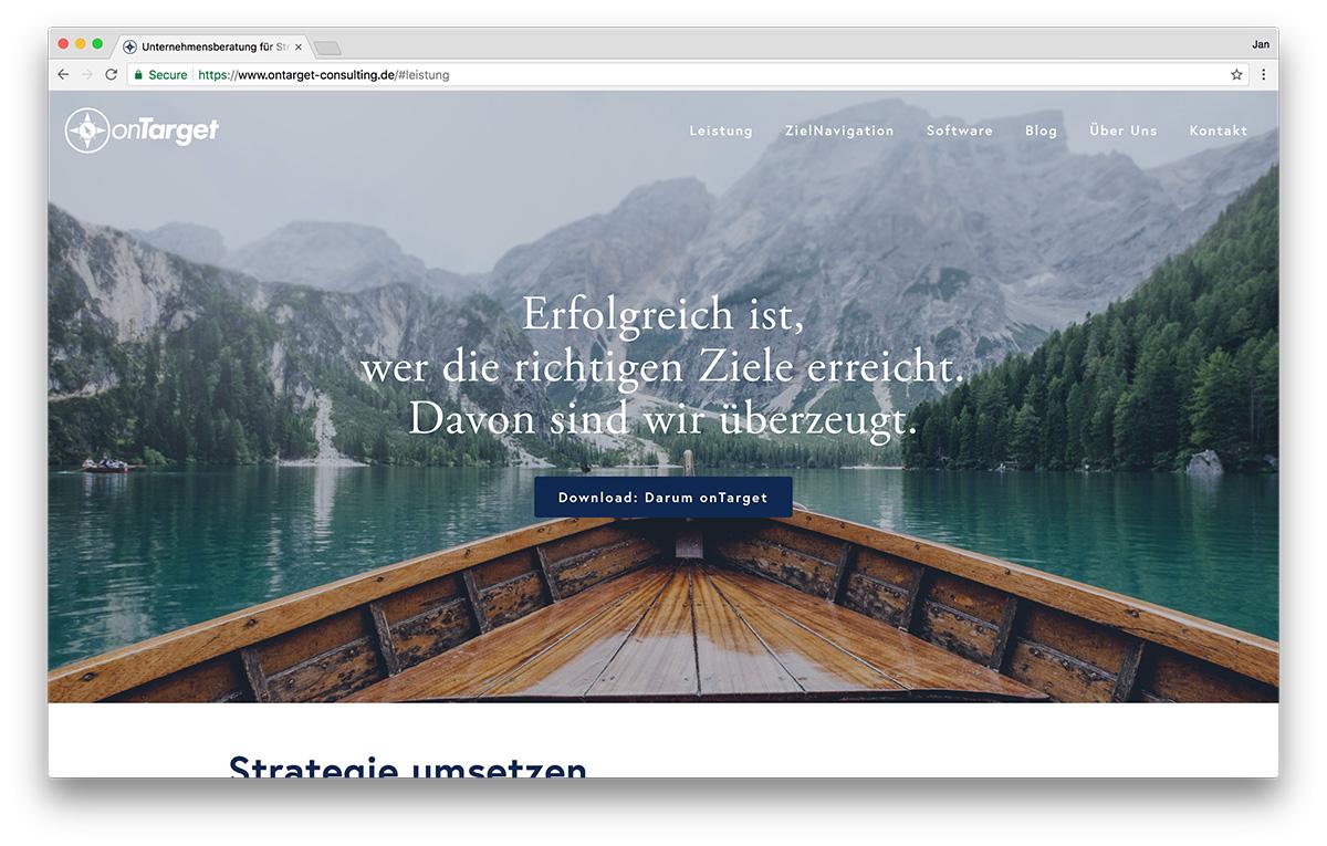 KreativBomber Webdesign Freiburg Projekt onTarget-Consulting - Startseite