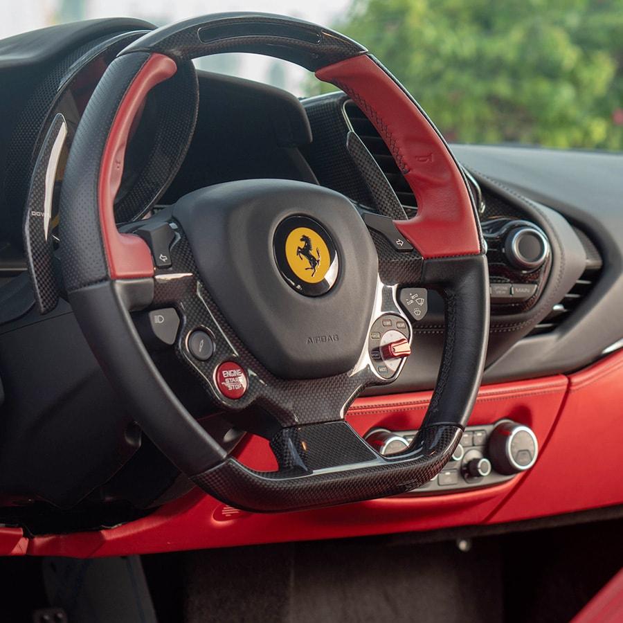 Ferrari 488 mobile interiors