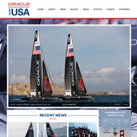 Oracle Team USA's homepage for the America's Cup.