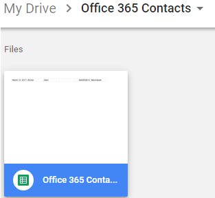 Automatically keep a record of new Office 365 Contacts in a Google