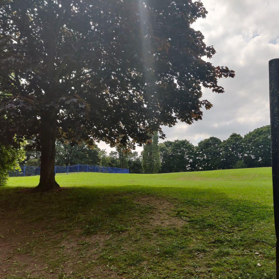 Farsley Recreation Ground in shade