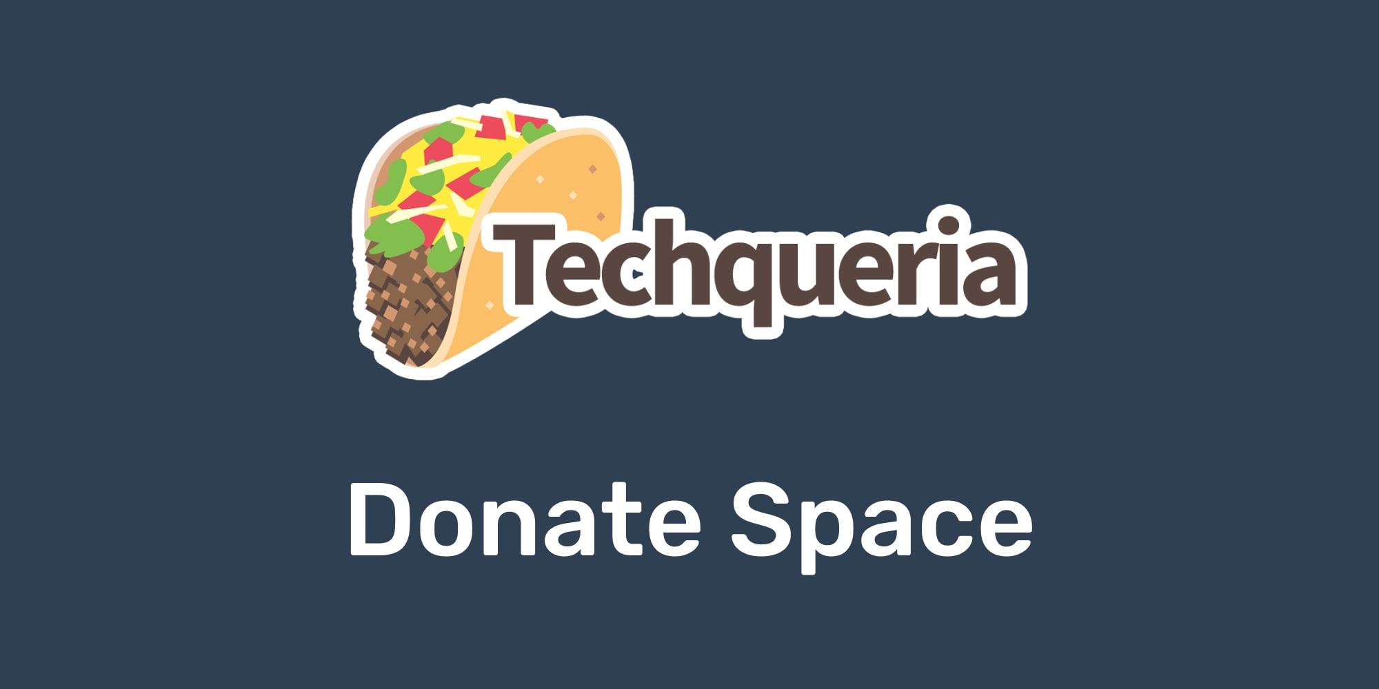 Donar espacio