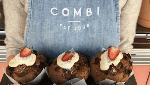 Combi Cafe shows cakes made by their business which is growing with Futrli #entrepreneur