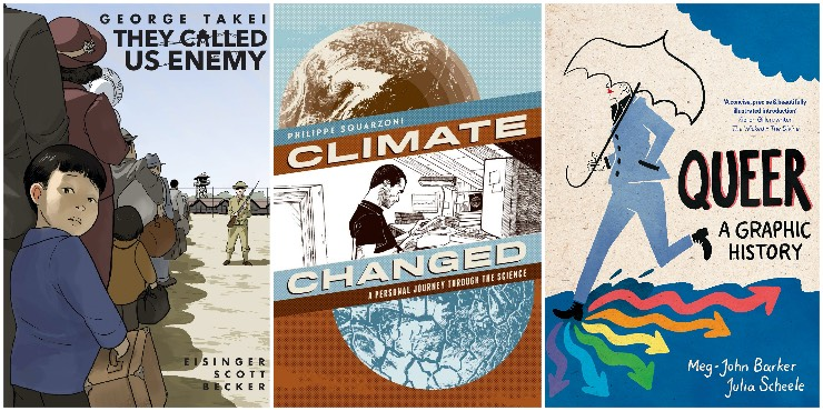 They Called Us Enemy, Climate Changed, Queer: a graphic history