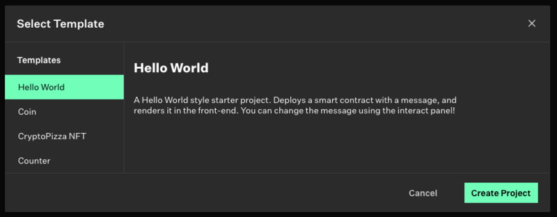 "Create a ""Hello World"" fullstack dapp"
