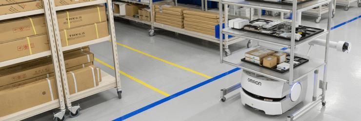 Le robot autonome avec chariot Sir Steward pour la livraison d'items.