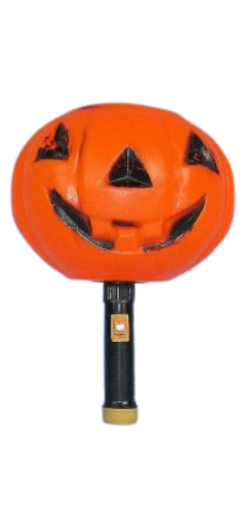 Pumpkin Hand Lantern With Flashlight Handle photo