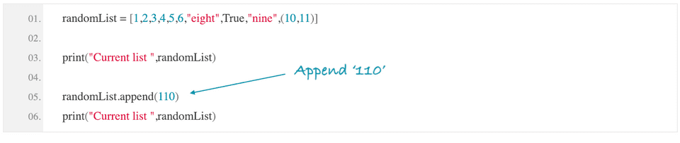 python append element to list