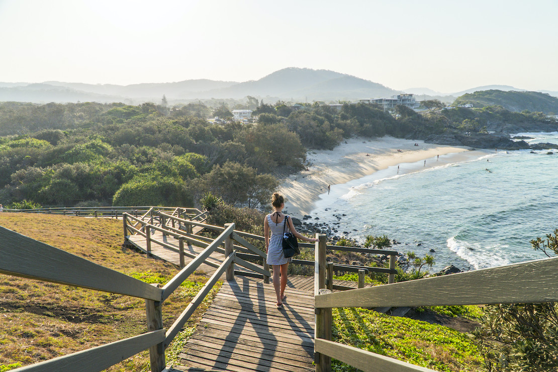 Going down to the beach (credit: Destination NSW)