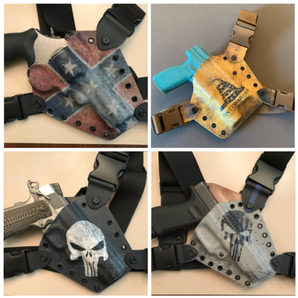 Custom-made holsters by Dan Watson's Alaris Tactical. Photos from Alaris Tactical website.