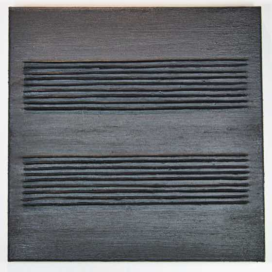 Fallowed: 1803.3, 16 in. x 16 in. (40.6 cm x 40.6 cm), acrylic plaster, yupo on canvas