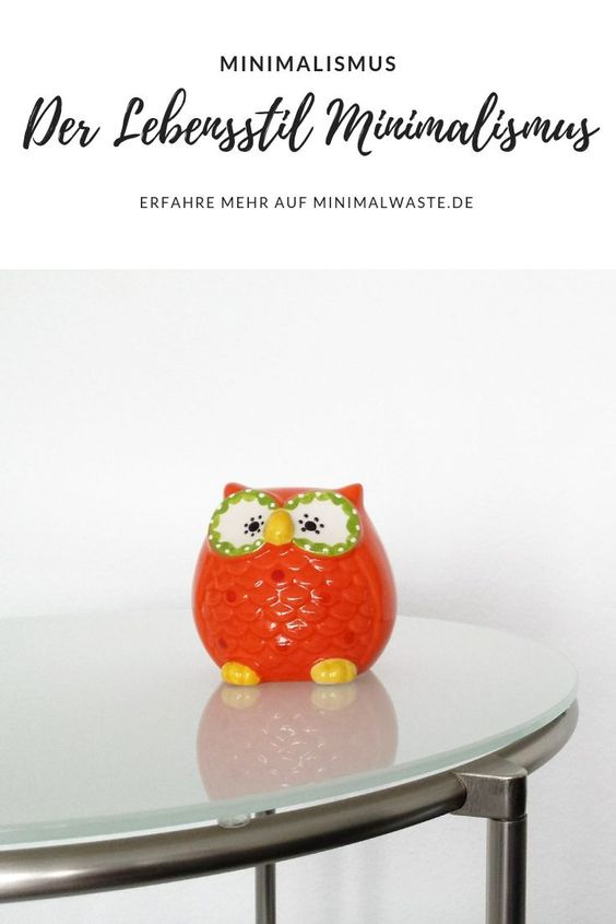 Pinterest Cover zu 'Der Lebensstil Minimalismus'