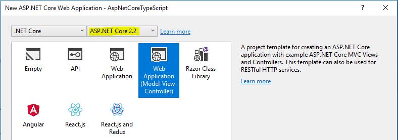 ASP.NET Core 2.2 Project Templates