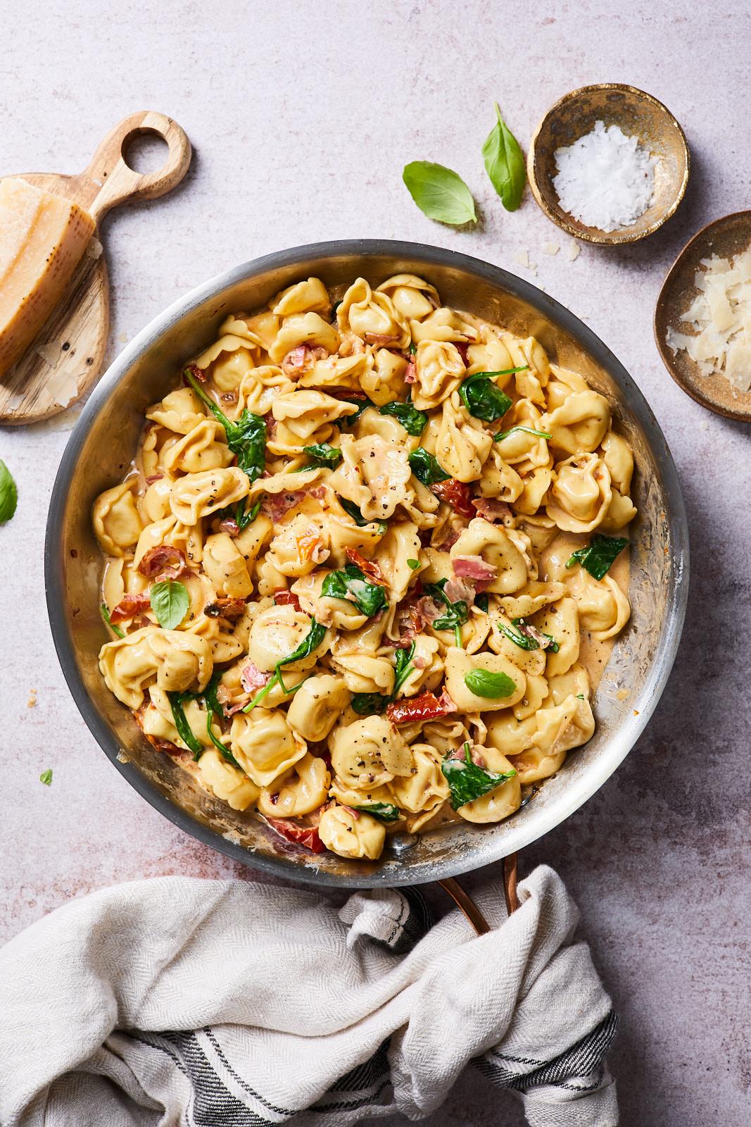 Creamy Tuscan Tortellini