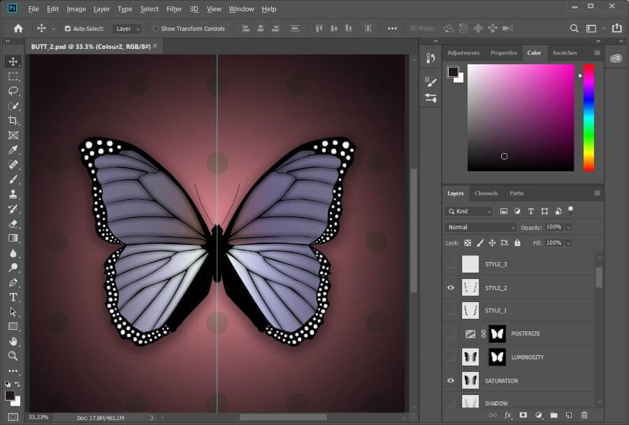 A screenshot of a template file in Photoshop