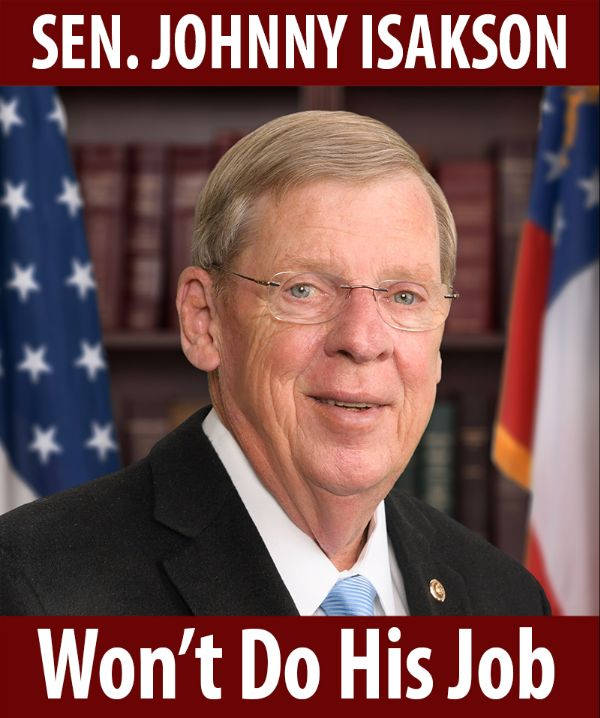 Senator Isakson won't do his job!