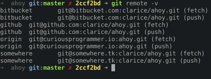 Git remotes