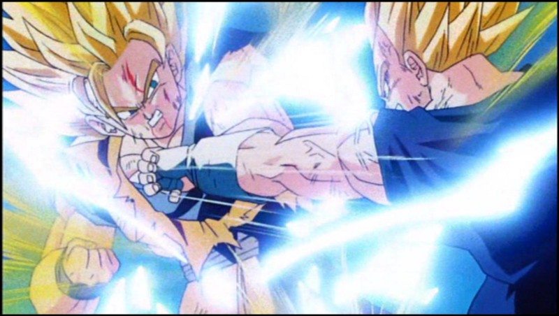 Super Sayans fighting