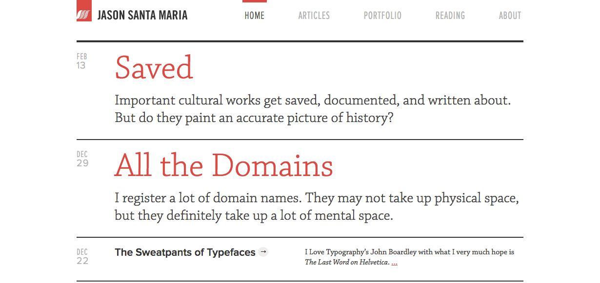 Website by Jason Santa Maria