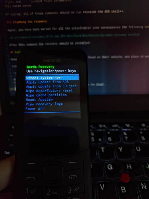 Gerda Recovery on Nokia 8110 screenshot