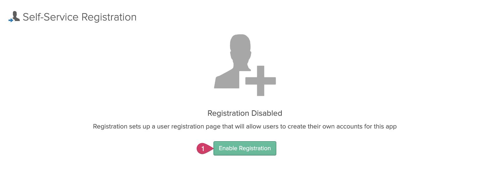 Enable Registration