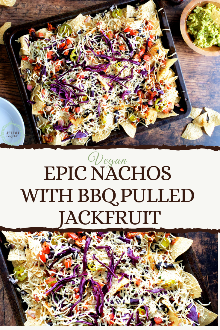 Nachos with bbq jackfruit