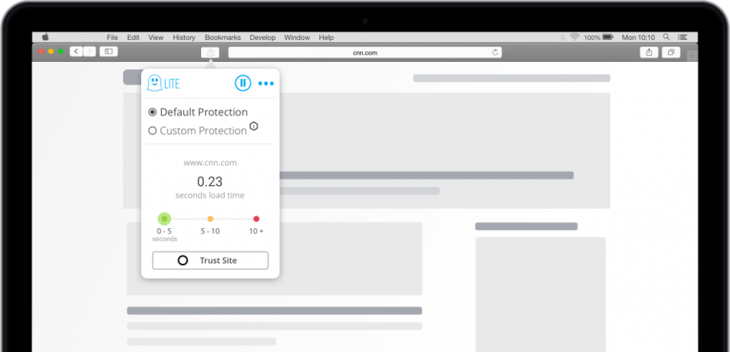 Ghostery Lite extension