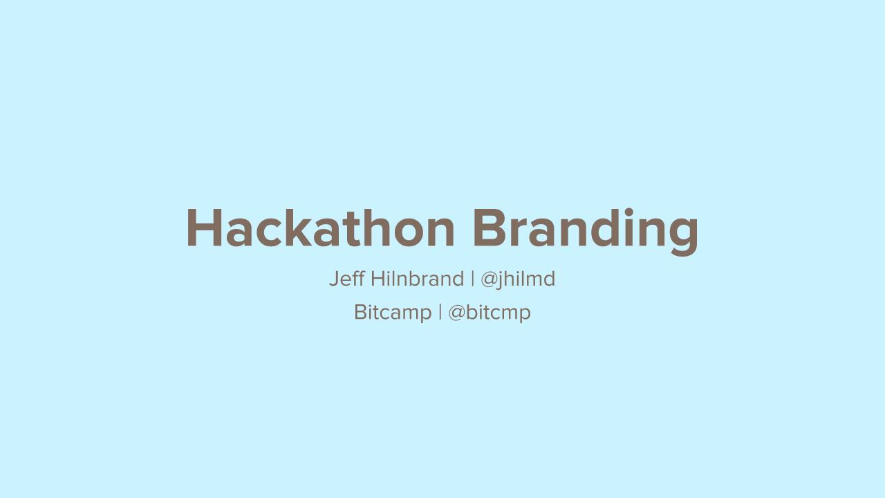 Hackathon Branding logo